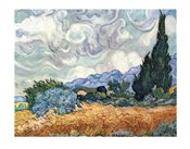A Wheat Field with Cypresses, c.1889