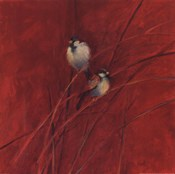 Crimson Sparrows I
