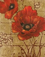 Poppies on Gold II