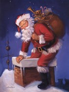 Santa in Chimney