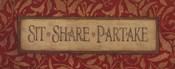 Sit Share Partake