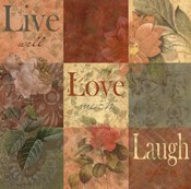 Shabby Chic 9 patchLive Laugh Love
