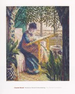 Madame Monet Embroidering, c.1875
