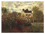 The Artist&#39;s Garden in Argenteuil (A Corner of the Garden with Dahlias), c.1873
