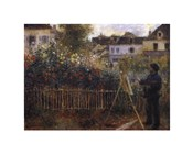Monet Painting in his Garden at Argenteuil, c.1873