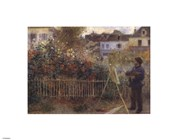 Monet Painting in the Garden at Argenteuil, 1873