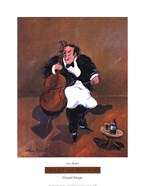 Cellist with Red Wine
