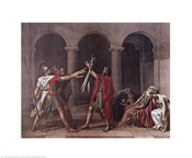 Jacques-Louis David - Oath of the Horatii Size 16.25x21