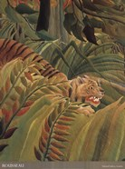 Detail from &#39;Tiger in a Tropical Storm (Surprised!), 1891&#39;