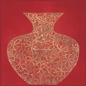 Red Vase (gold foil stamped)