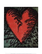 Rancho Woodcut Heart