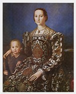 Agnolo Bronzino - Eleanore and Son Size 21x26