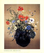 Blue Vase of Flowers