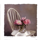 Old Chair With Peonies