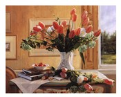 French Tulips and Crab Apple