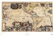 Map of North and South America, c.1700s