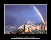 Imagination - Mountain With Rainbow
