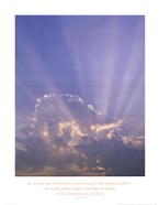 Clouds With Sun Rays - Vertical