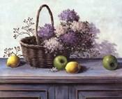 Basket of Purple Flowers