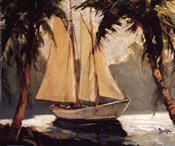 Frederick Alexander Pawla - Sailboat, Santa Barbara Size 13x11