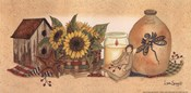 Rows Sunflowers Aglow
