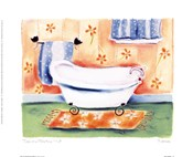Tub On Flowered Mat