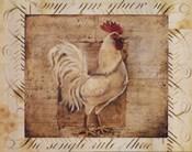 Rustic Farmhouse Rooster I - Mini