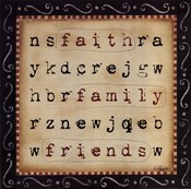 Faith Family Friends Word Search