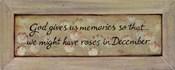 God Gives Us Memories