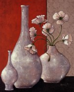 Silverleaf And Poppies I