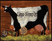 Live Simply Cow