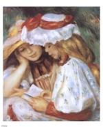 Duex jeunes filles lisant