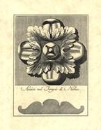 Vintage Rosette And Profile I