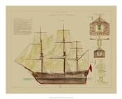 Antique Ship Plan VIII