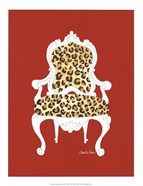 Leopard Chair On Red