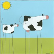 Stick-Leg Cow I