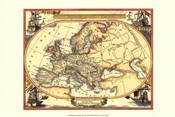 Small Nautical Map Of Europe