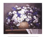 Daisies and Delphiniums