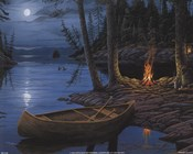Erol Molnar - Camp Fire Canoe Size 8x10