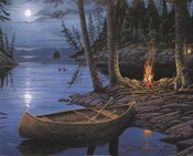 Erol Molnar - Camp Fire Canoe Size 16x20