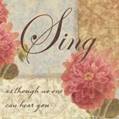 Sing as though....