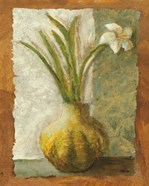 Narcissus in Green Vase