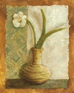 Orchids in Green Vase