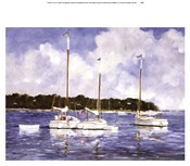 Ray Ellis - Moored Cat Boats Size 12.25x16.25