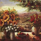 Sunflowers With Fruit And Wine I