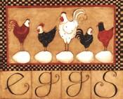 Eggs in a row