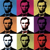 Abraham Lincoln - colored tiles
