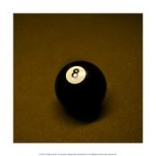 8 Ball on Brown