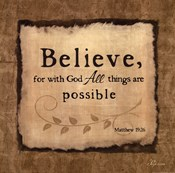 Believe With God