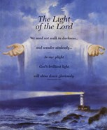 Lighthouse and Jesus